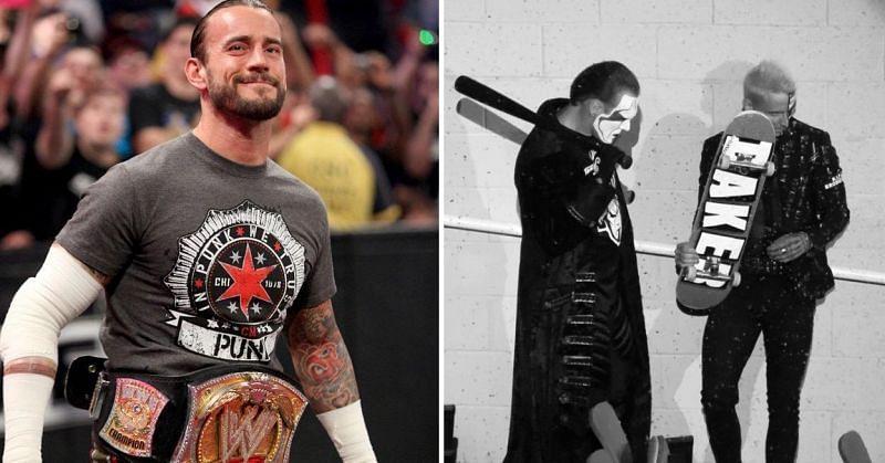 CM Punk; Darby Allin with Sting