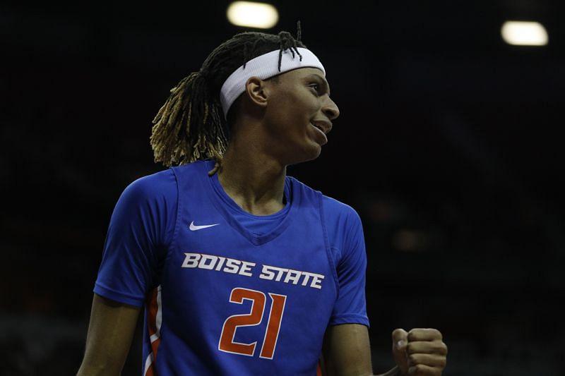 Derrick Alston Jr. from Boise State reacting