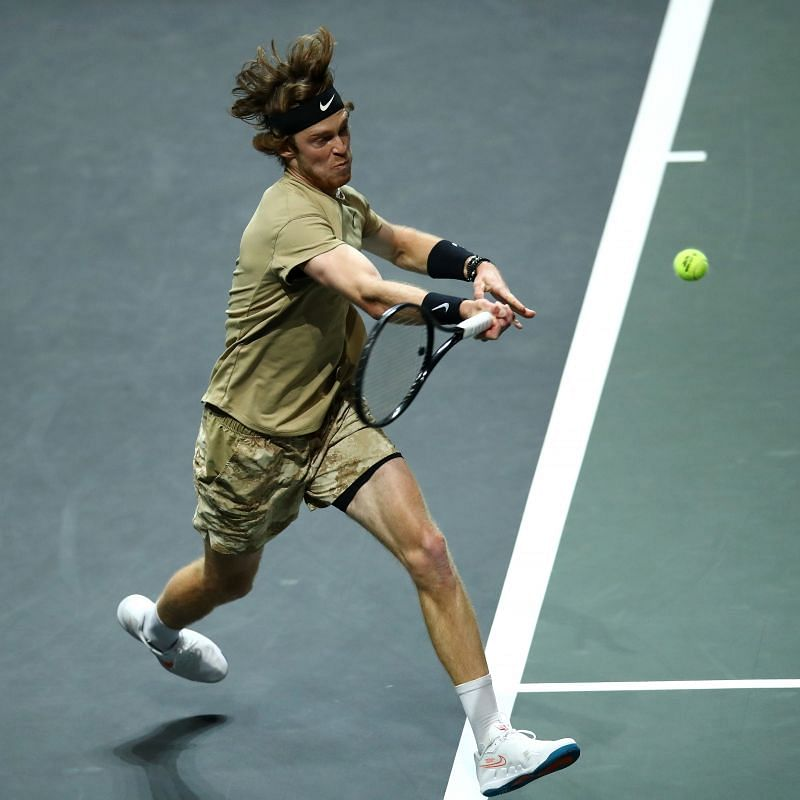 Andrey Rublev at the 2020 Rotterdam event