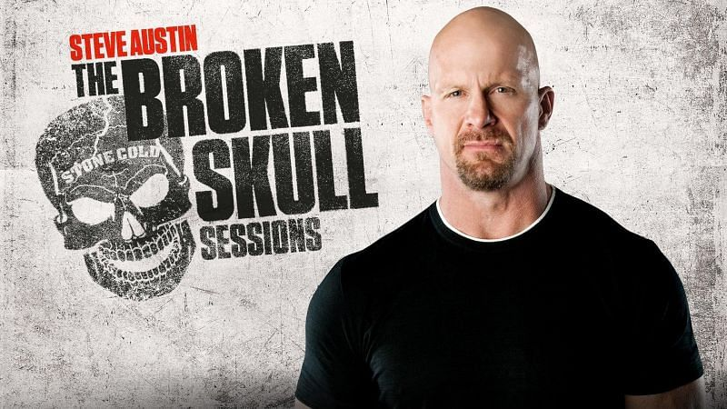 """""""Stone Cold"""" Steve Austin announces the next guest on The Broken Skull Sessions."""