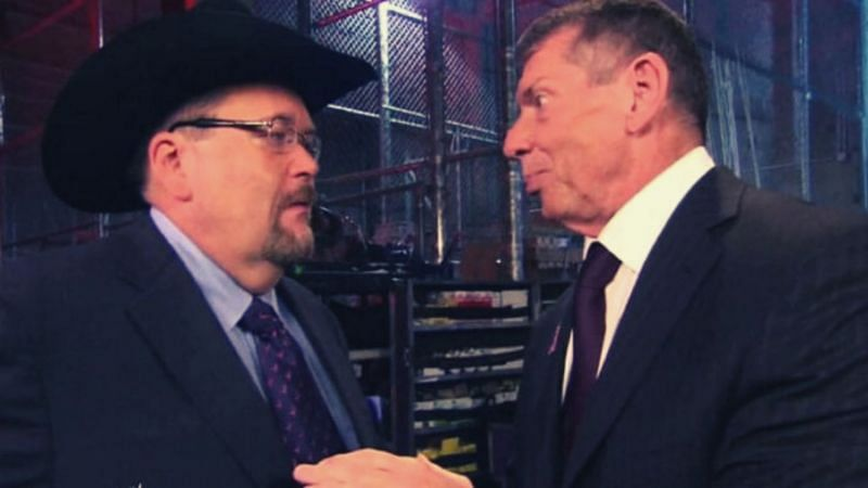 Jim Ross and Vince McMahon.