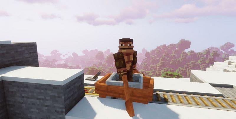 The legendary Minecraft BoatCart (Image via Minecraft)