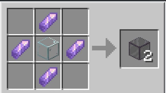 Minecraft tinted glass crafting recipe