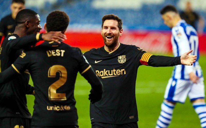 Barcelona thrashed Real Sociedad 6-1 in La Liga on Sunday