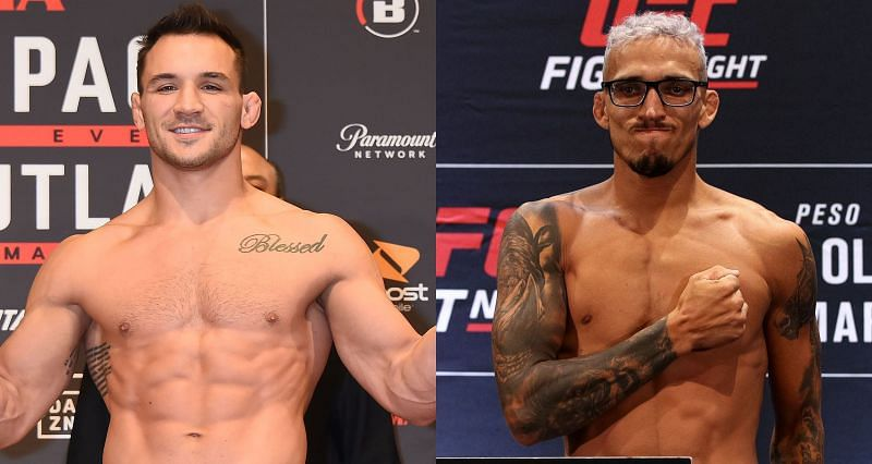 Michael Chandler (Left) plans to drag Charles Oliveira (Right) in the deep waters