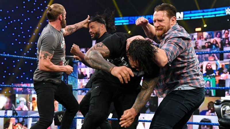 Edge, Daniel Bryan and Roman Reigns could do battle at WrestleMania