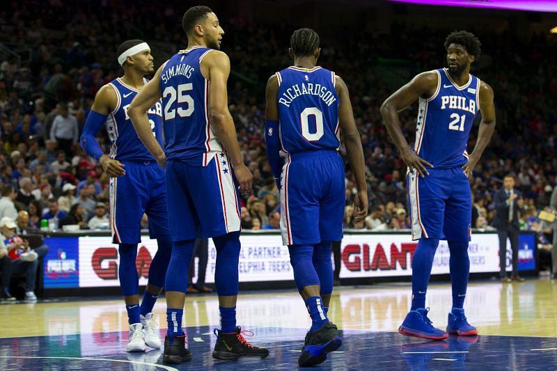 The Philadelphia 76ers take on the Golden State Warriors next