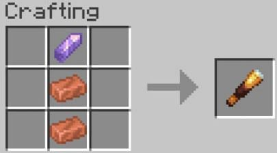 Crafting recipe for the Spyglass in Minecraft
