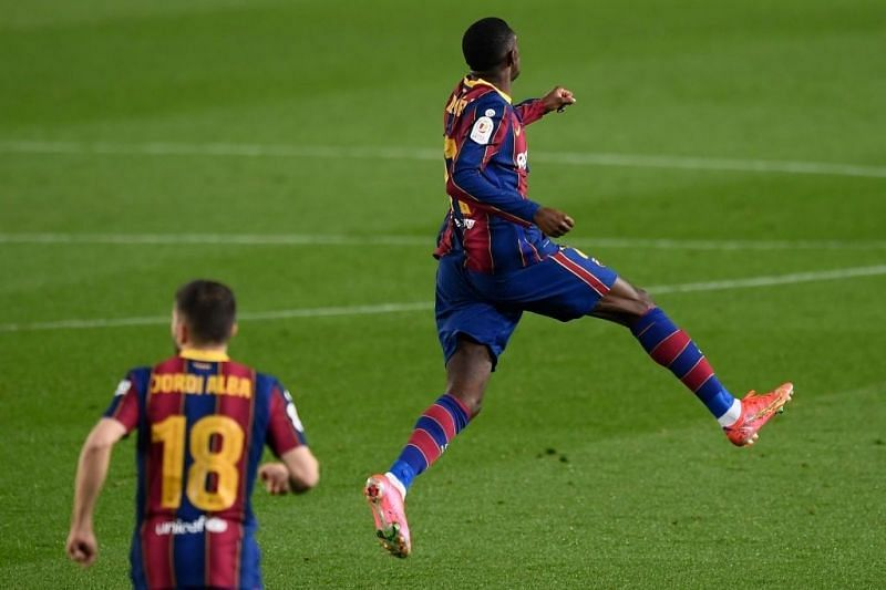 Dembele was on target against Sevilla for the second time in four days!