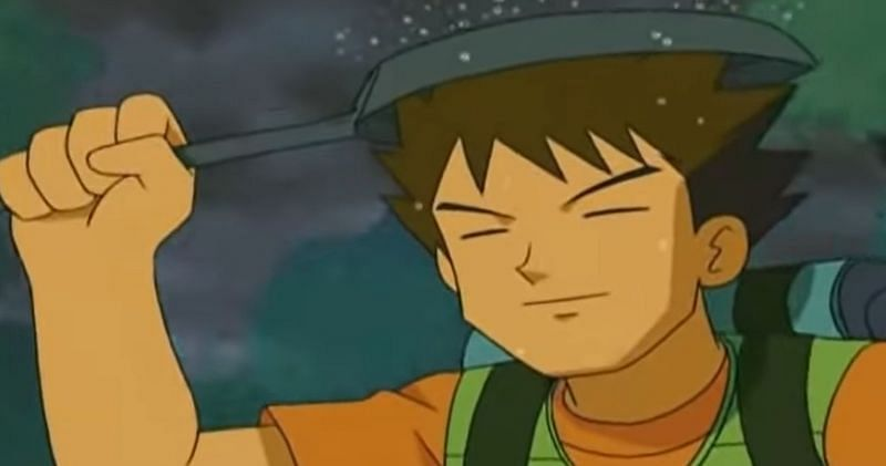 Brock with his trusty frying pan in the anime (Image via The Pokemon Company)