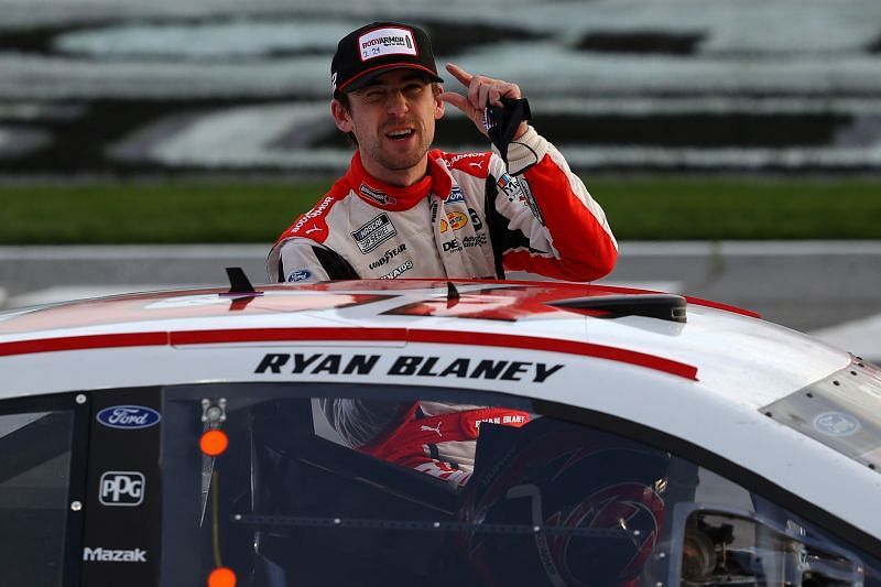 Ryan Blaney wins the NASCAR Cup Series Folds of Honor QuikTrip 500 at Atlanta. Photo/Getty Images