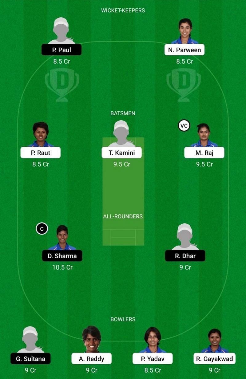 RAI-W vs BEN-W Dream11 Team