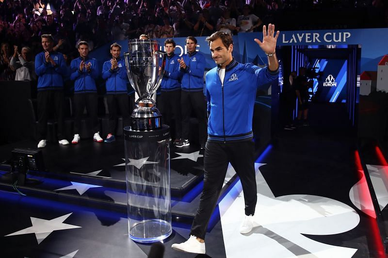 Roger Federer at the Laver Cup 2019 in Geneva, Switzerland