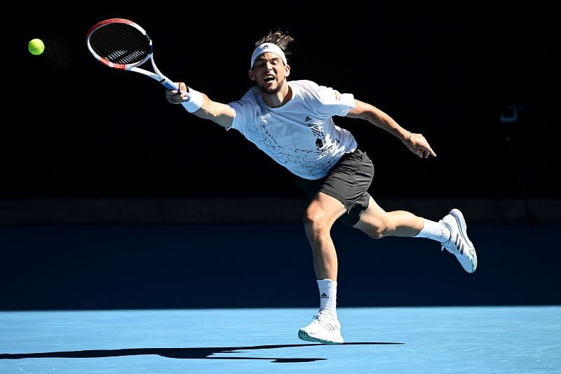 Dominic Thiem at the 2021 Australian Open in Melbourne, Australia