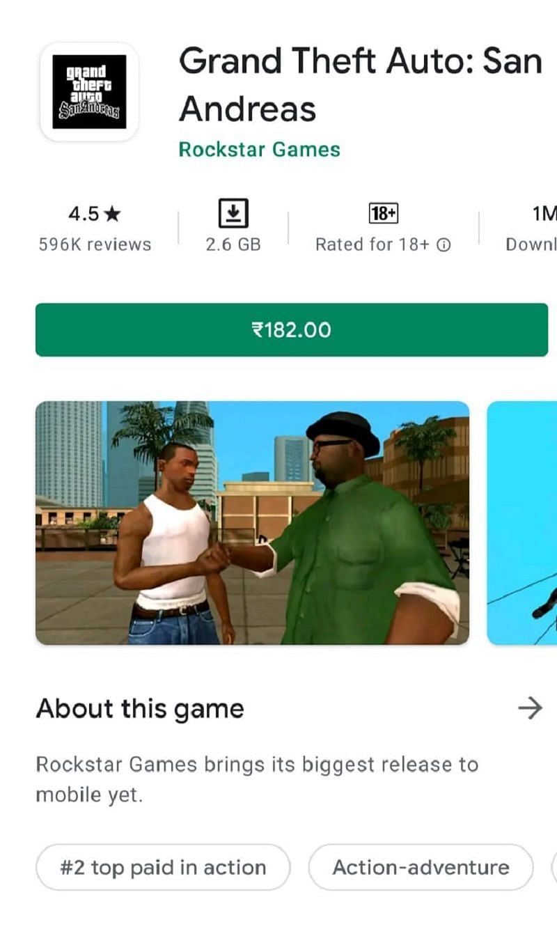 GTA San Andreas on the Play Store
