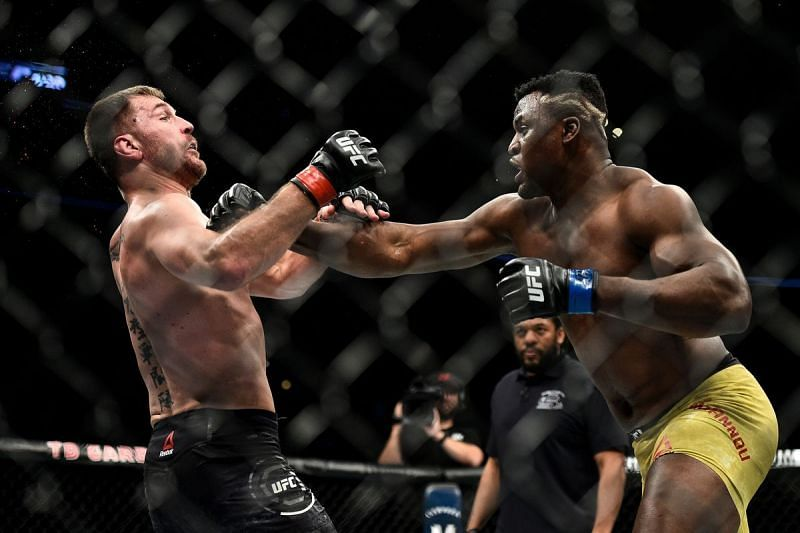 Francis Ngannou was unsuccessful in his first attempt to beat Stipe Miocic.