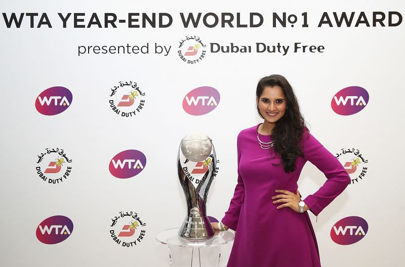 Sania Mirza at the BNP Paribas WTA Finals Singapore in 2016