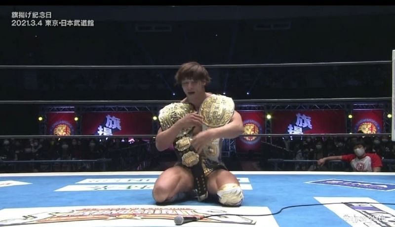 Kota Ibushi has defended the IWGP Heavyweight and Intercontinental Titles for the final time