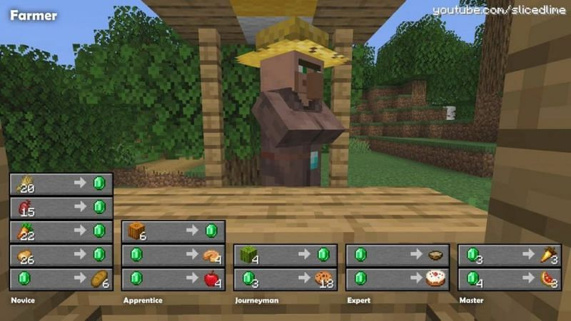 Farmer villager (Image via minecraft-tutos.com)