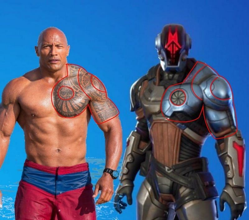 """Dwayne """"The Rock"""" Johnson will now be a part of the Fortnite universe? (Image via Twitter/OroFNRP)"""