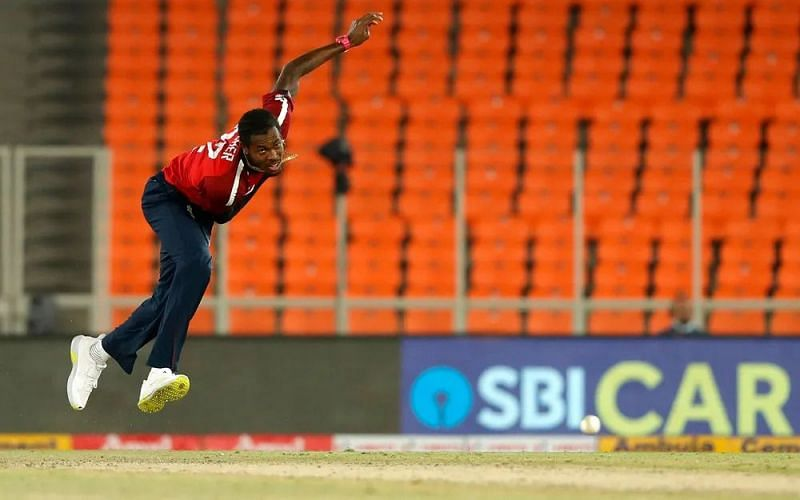 Jofra Archer during the 4th T20I