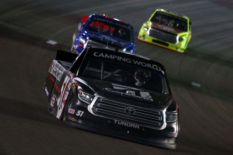 Kyle Busch during the NASCAR Camping World Truck Series Bucked Up 200. Photo: Getty Images