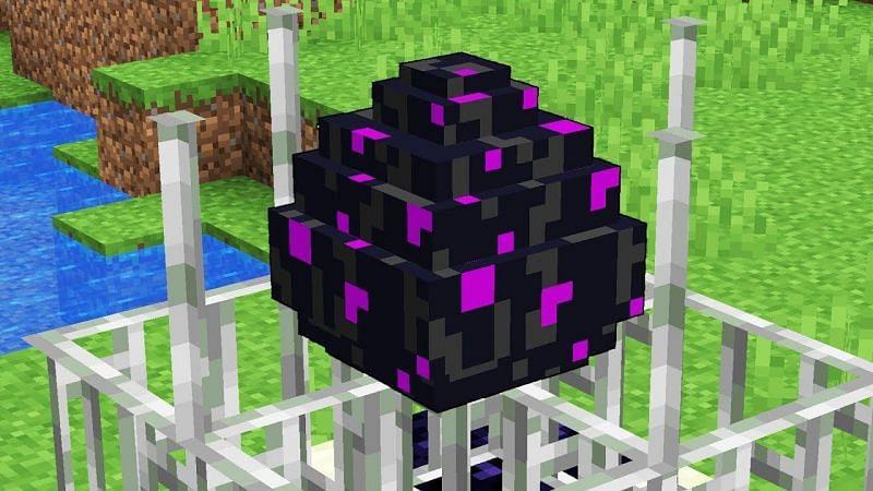 Ender Dragon egg (Image via alqurumresort.com)