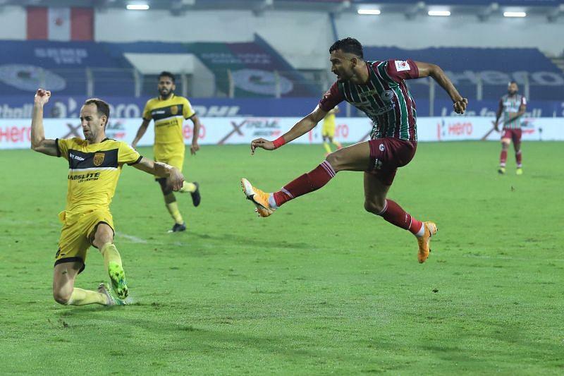ATK Mohun Bagan have got a lot of versatility through Manvir Singh this season. Courtesy: ISL