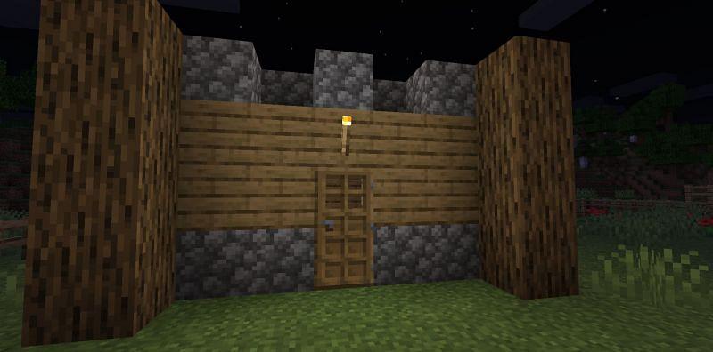 A nicely made shelter (Image via Minecraft)