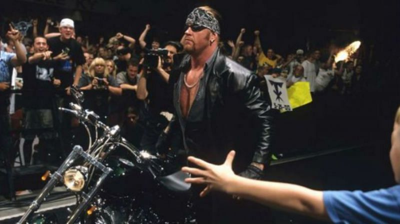 The Undertaker's theme drastically changed when he became The American Bada** in 2000