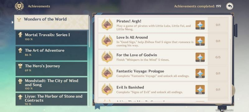 Pirates! Argh! achievement in Genshin Impact