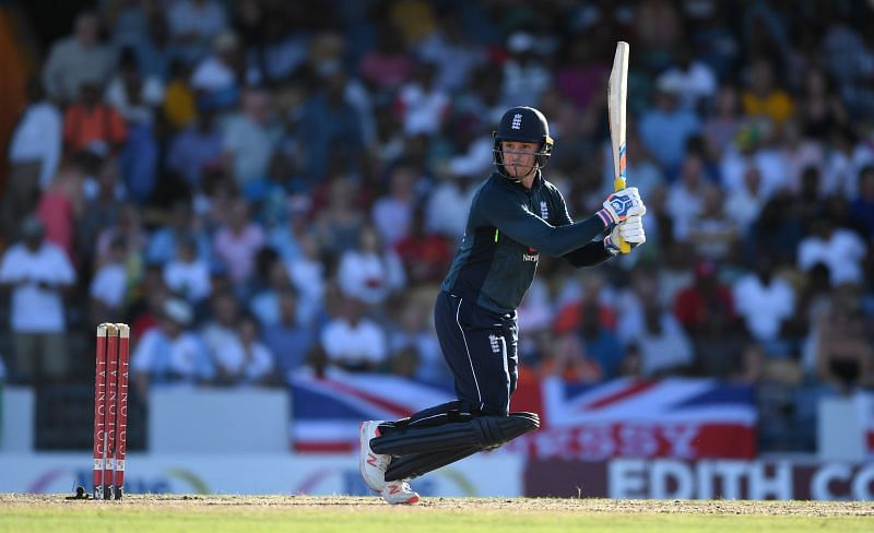 Jason Roy owned the Caribbean bowlers at the Kensington Oval