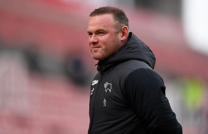 Wayne Rooney will lead Deby County out against Luton Town
