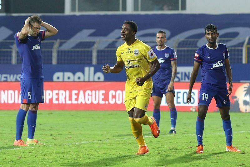 Bartholomew Ogbeche has been a consistent performer for the Islanders this season (Courtesy - ISL)