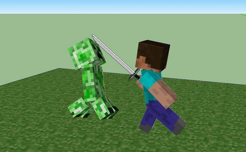 Creeper vs Steve (Image via stookam.deviantart.com)