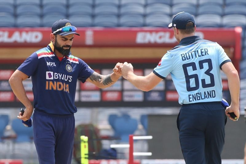 Virat Kohli and Jos Buttler will lead their sides into battle at the MCA Stadium in Pune