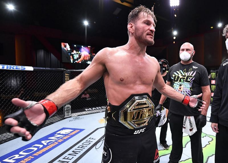 Stipe Miocic will defend the UFC heavyweight title this Saturday.
