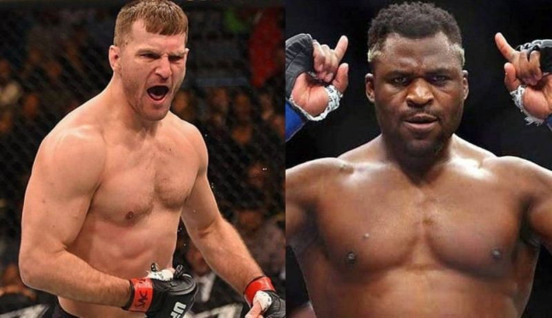 UFC 260 headliners Stipe Miocic (left) and Francis Ngannou (right)