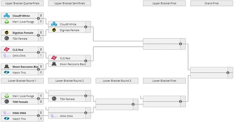 Tournament bracket (Screengrab from Liquipedia)