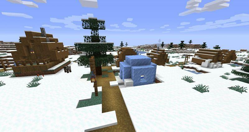 Ice igloo (Image via Reddit)