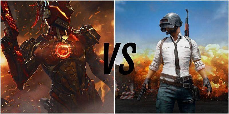 Free Fire vs PUBG Mobile (Picture Courtesy: Free Fire and PUBG Mobile)