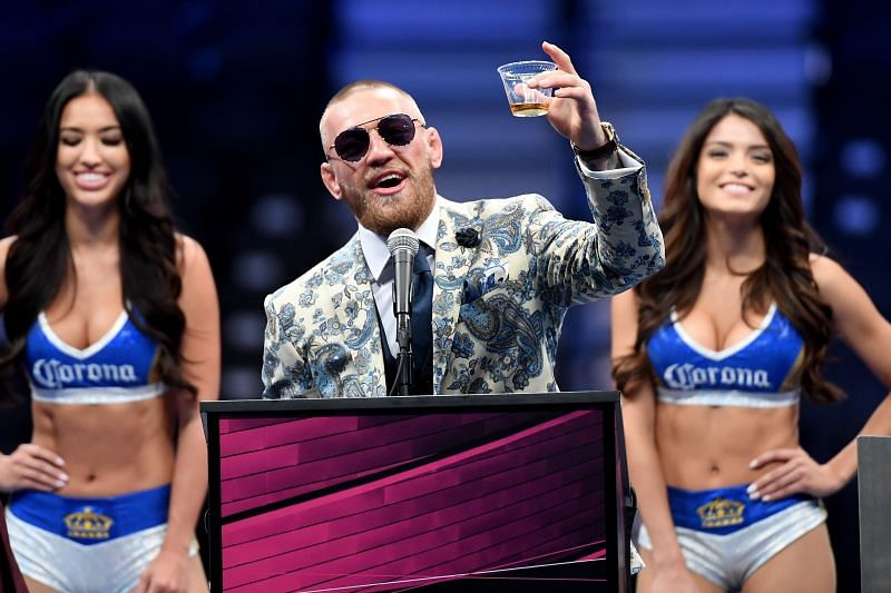 Conor McGregor promoting his whiskey brand