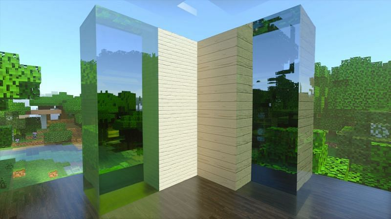 Minecraft with RTX and an HD resource pack (Image via NVIDIA)