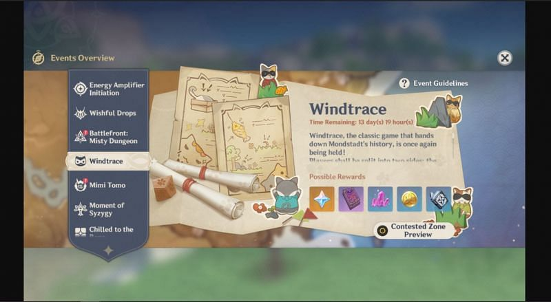 Windtrace- Upcoming PvP Hide and Seek event in Genshin Impact (Image via Project Celestia)