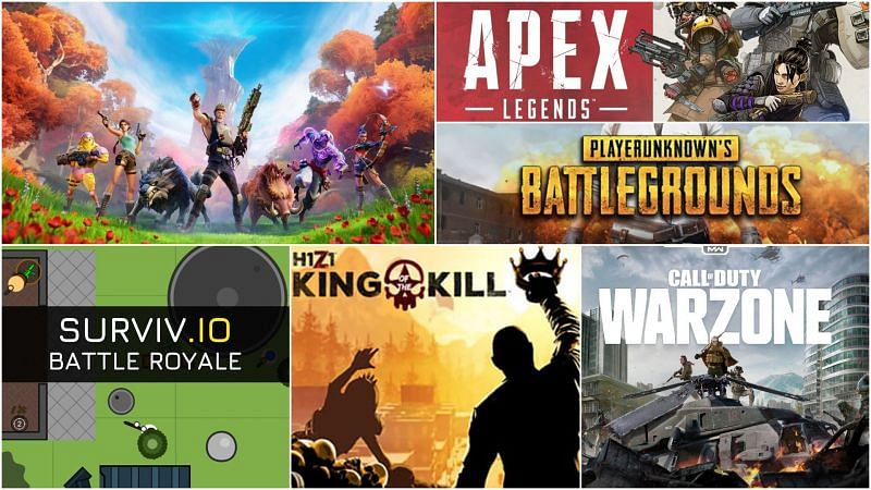 Image via Fortnite, H1Z1, PUBG, Apex Legends, Survive.io, & Call of Duty