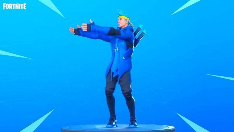 Ninja skin using the Pon Pon Emote (Images via Epic Games)