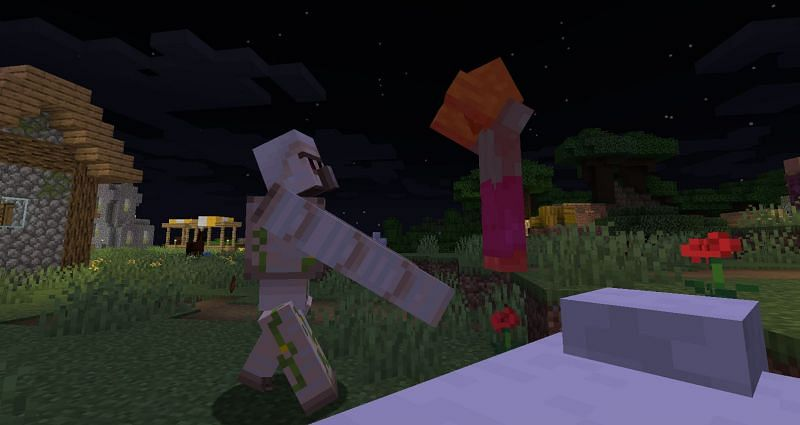 Shown: A Golem beating up a Zombie (Image via Minecraft)