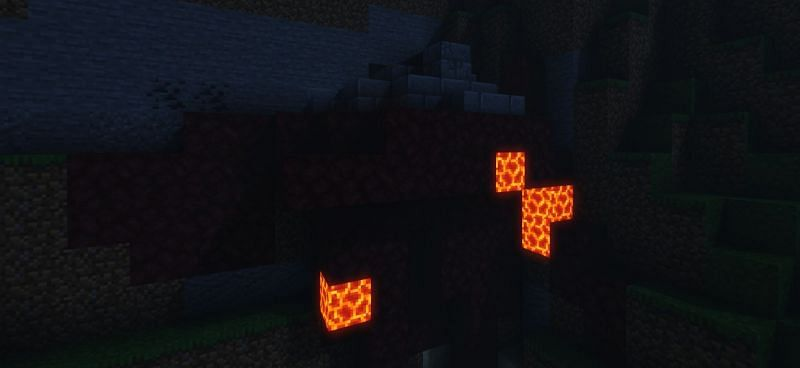 Shown: A ruined Portal (Image via Minecraft)