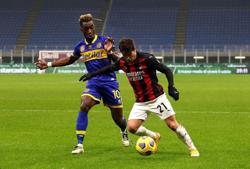 Brahim Diaz in action for AC Milan