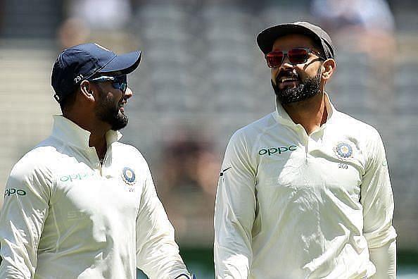 Rishabh Pant (left) and Virat Kohli